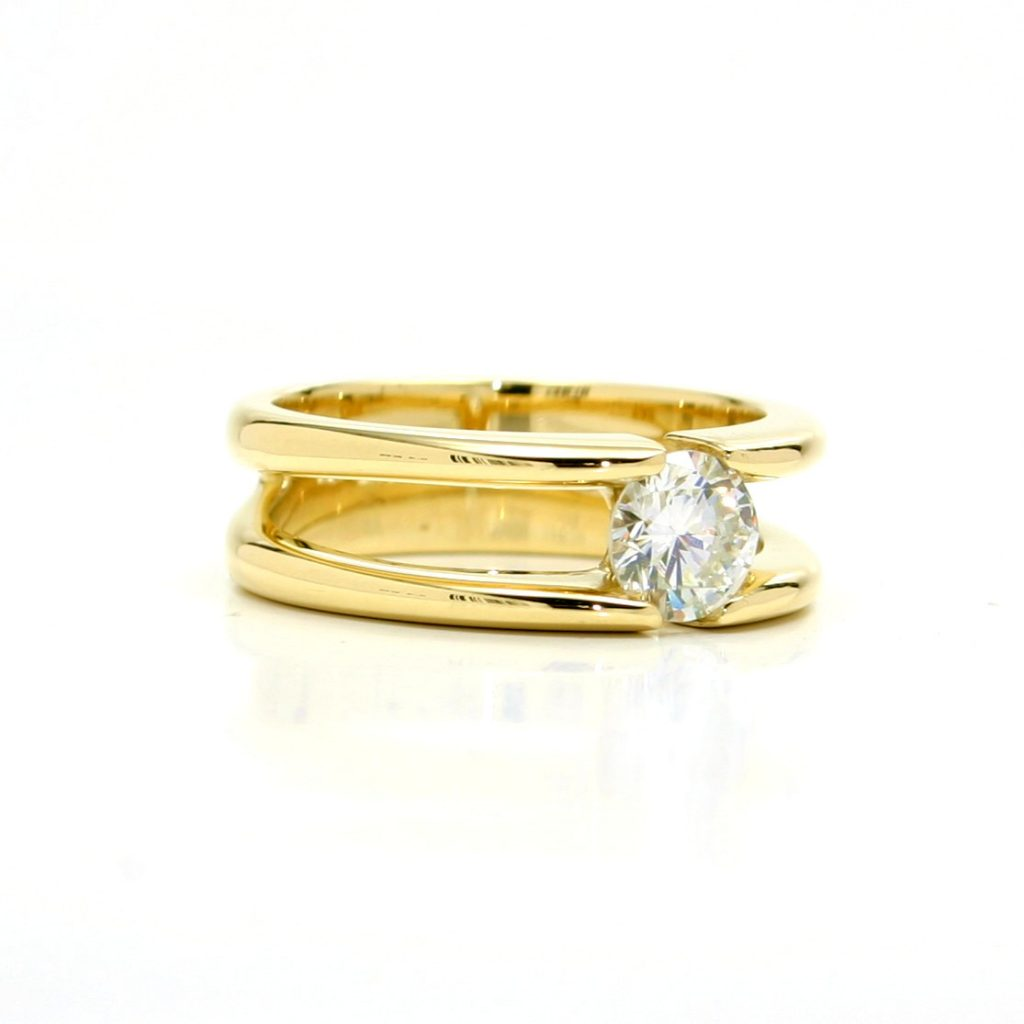 Damenring 750 Gelbgold Brillant-1ct_1