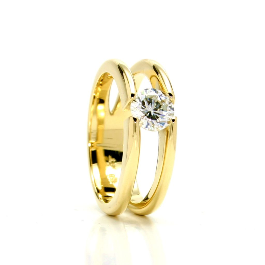 Damenring 750 Gelbgold Brillant-1ct_3