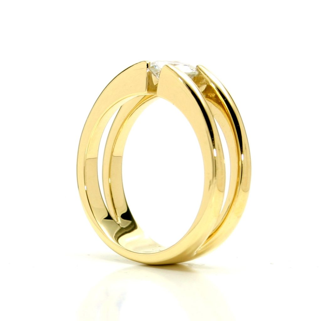 Damenring 750 Gelbgold Brillant-1ct_4
