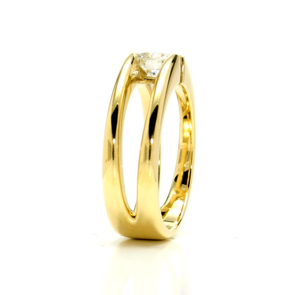 Damenring 750 Gelbgold Brillant-1ct__5