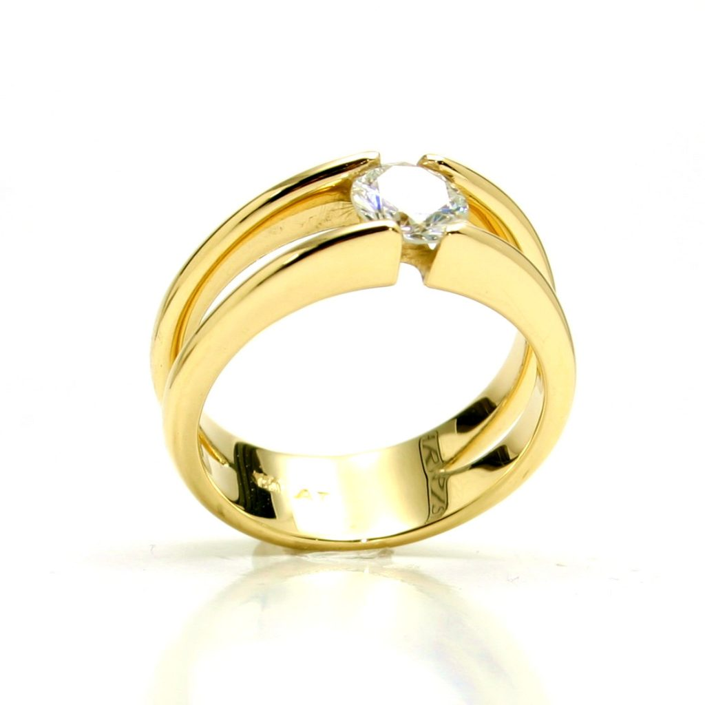 Damenring 750 Gelbgold Brillant-1ct_6