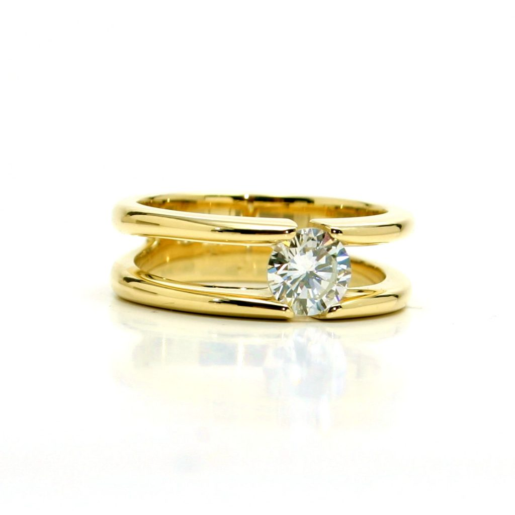 Damenring 750 Gelbgold Brillant-1ct__7