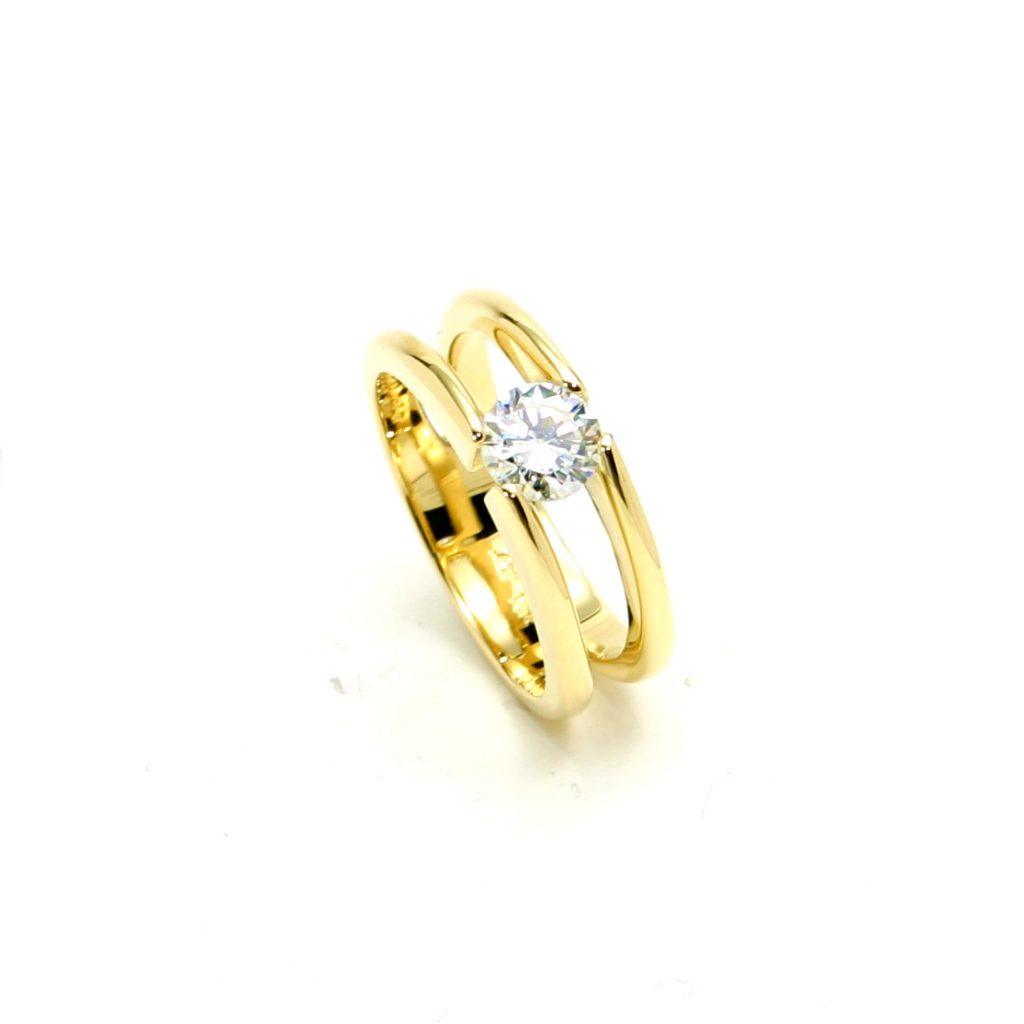 Damenring 750 Gelbgold Brillant-1ct_8